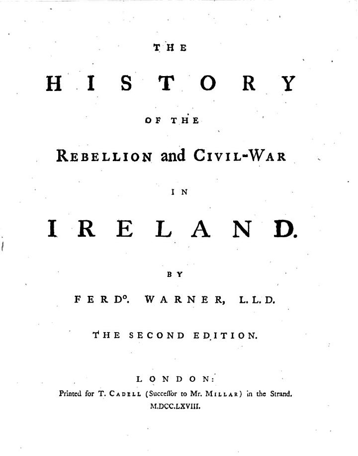 The history of the Rebellion in Ireland
