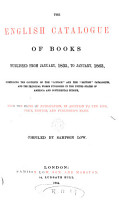 The English Catalogue of Books  v   1   1835 1863 PDF