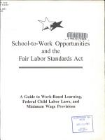 School to work Opportunities and the Fair Labor Standards Act PDF