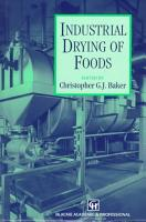 Industrial Drying of Foods PDF