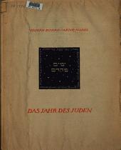 Das Jahr des Juden: 12 Gedichte zu 12 Radiergn