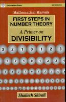 First Steps in Number Theory PDF