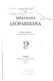 Saggio dí una bibliografia Leopardiana
