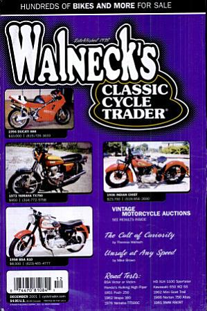 WALNECK S CLASSIC CYCLE TRADER  DECEMBER 2001 PDF
