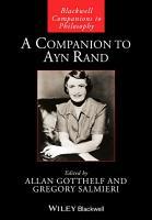 A Companion to Ayn Rand PDF
