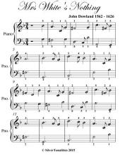 Mrs White's Nothing - Easy Piano Sheet Music