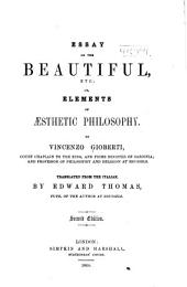 Essay on the Beautiful, Etc.; Or, Element of Aesthetic Philosophy