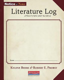 Notice and Note Literature Log: A Place to Note What You Notice