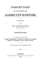 Forschungen auf dem gebiete der agricultur-physik: Band 2