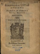 Oratio habita in funere Cosmi Medicis Magni Etruriae Ducis