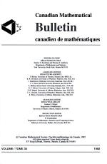 Canadian Mathematical Bulletin PDF