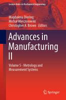 Advances in Manufacturing II PDF