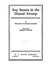 Boy scouts in the Dismal Swamp