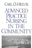 Advanced Practice Nursing in the Community PDF