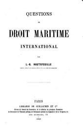 Questions de droit maritime international