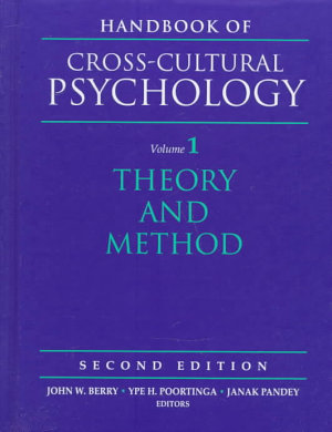 Handbook of Cross cultural Psychology  Theory and method PDF