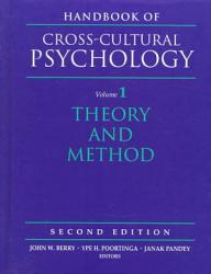 Handbook Of Cross Cultural Psychology Theory And Method Book PDF