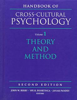Handbook of Cross cultural Psychology  Theory and method Book