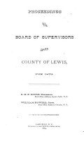 Proceedings of the Board of Supervisors of Lewis County PDF
