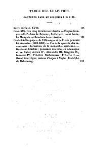 Histoire du moyen age: Dernières croisades. Querelles des Guelfes et des Gibelins en Italie et en Allemagne, Volume5