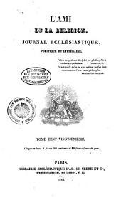 L' ami de la religion: journal ecclésiastique, politique et littéraire, Volume121