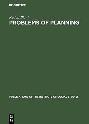Problems of planning PDF
