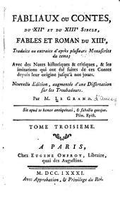 Fabliaux ou contes, fables et romans du XIIe et du XIIIe siècle...