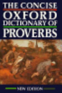 The Concise Oxford Dictionary of Proverbs PDF