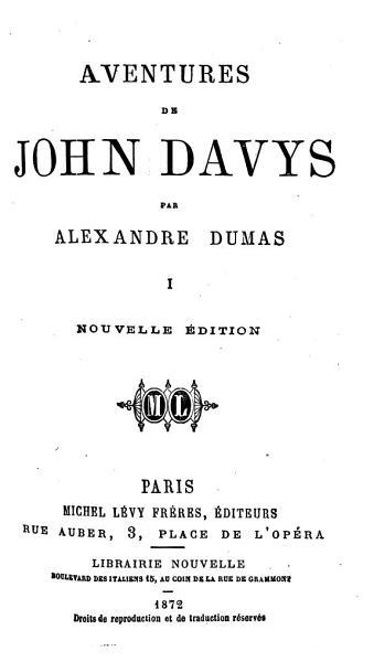 Download Aventures de John Davys  Aventures de John Davys     Nouvelle   dition Book