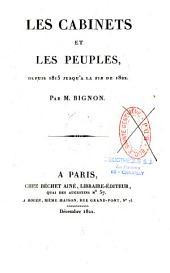 Les cabinets et les peuples: depuis 1815 jusqu'à la fin de 1822