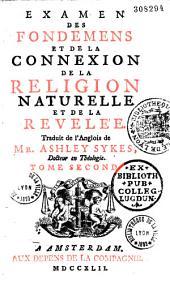 Examen des fondements et de la connexion de la religion naturelle et de la révélée