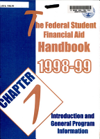 Federal student financial aid handbook PDF