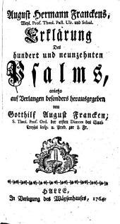 Erklärung des 119ten Psalms