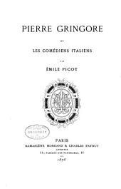 Pierre Gringore et les comédiens italiens