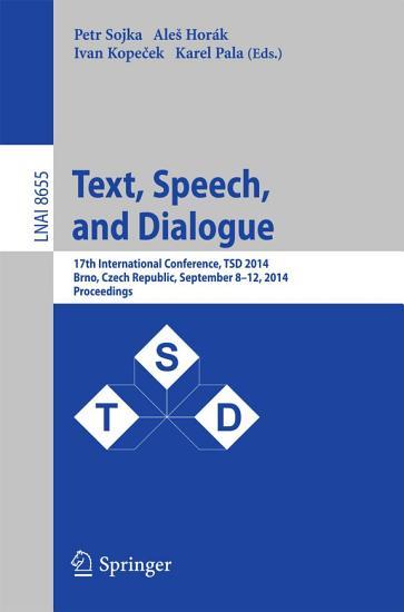 Text  Speech and Dialogue PDF