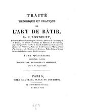 Traite theorique et pratique de l'art de batir. (Avec planches et atlas.)