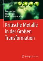 Kritische Metalle in der Gro  en Transformation PDF