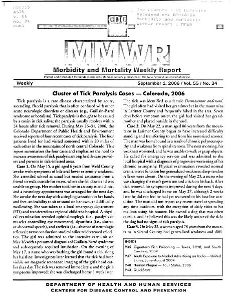 Morbidity and Mortality Weekly Report PDF