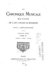 La Chronique musicale: Volume4