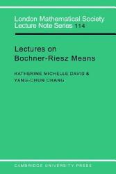 Lectures On Bochner Riesz Means Book PDF