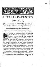Lettres patentes du Roi, qui permettent à M. l'Abbé d'Espagnac d'établir une Maison de Charité au village de Coulombs: données à Versailles au mois de Mars 1781, registrées en Parlement le trois Avril mil sept cent quatre-vingt-un