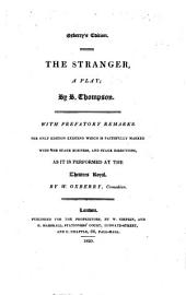 The Stranger,: A Play;