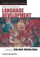 Blackwell Handbook of Language Development PDF