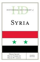 Historical Dictionary of Syria PDF