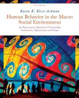 Human Behavior in the Macro Social Environment PDF