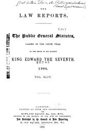 Public General Statutes Passed in ..: Volume 44