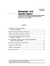 Newspaper and Gazette Report PDF