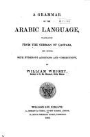 A Grammar of the Arabic Language PDF