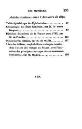 Annuaire historique: Volume5