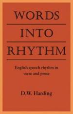 Words Into Rhythm